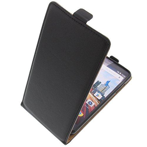 foto-kontor Tasche für Archos 55 Helium Ultra Smartphone Flipstyle Schutz Hülle schwarz