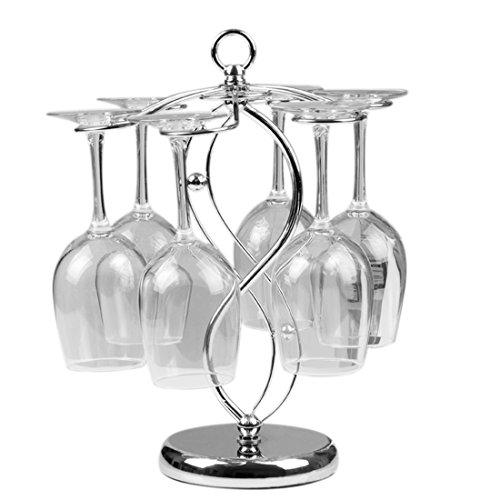 Weinregale, Foxom Edelstahl Tischweinglas Ständer/Stemware Racks/Glashalter/ 6 Weinglas Halter, für Zuhause, Bar, Verein Benutzen und Dekoration