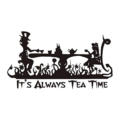 Myvovo) Art Quotes It Is Always Tea Time Tatuajes de pared Kids ...
