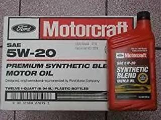Motorcraft SAE 5w20 Synthetic Blend Motor Oil- 12 Quart Case