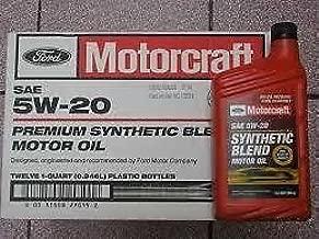 Motorcraft SAE 5w20 Synthetic Blend Motor Oil- 12 Quart Case