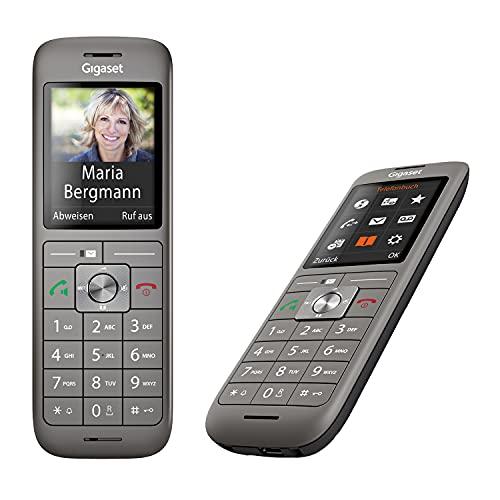 Gigaset CL660HX Duo - 2 schnurlose DECT-Telefone zum Anschluss am Router - 2 hochwertige Mobilteile mit Ladeschale, Anthrazit-metallic