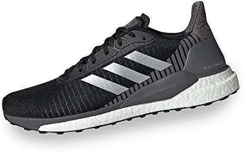 Adidas Solar Glide St 19, Zapatillas de Correr Hombre, Negro/Gris (Cblack/Silvmt/Grefiv), 42 2/3 EU