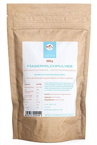 Magermilchpulver 500g aus Milch von deutschen Bauernhöfen u.a. für Joghurt, als Kaffeeweißer oder in Smoothies
