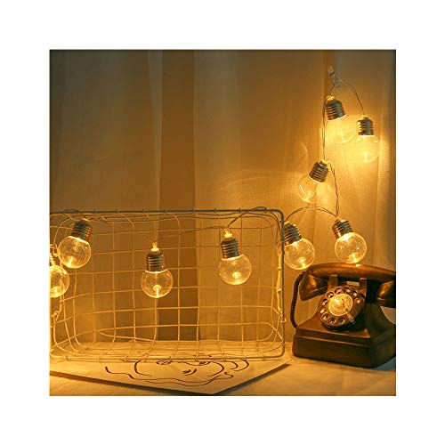 CLOOM Guirnaldas Luces, 1.8M 10 LED Guirnalda de Luces Guirnalda Luces Blanco Cálido Impermeable Guirnaldas Luminosas Decoracion Pilas para Interior, Jardines, Casas, Boda, Fiesta de Navidad
