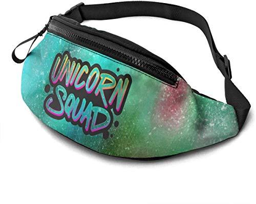 Unicorn Squad Fashion Casual Waist Bag Fanny Pack Travel Bum Bags Running Pocket for Men Women