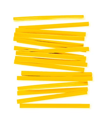 """APQ Pack of 2000 Paper Twist Ties 4' Long and 3/16"""" Wide. Yellow Twist Ties for Plastic Trash, Bread Bags. Paper Coated Ties. Bendable Multi-Function Strong Wire Ties for Tying Gift Bags. Wholesale."""