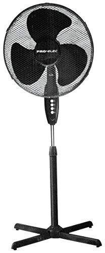 PRO-ELEC PEL00465 Standventilator, 40,6 cm, Schwarz, 40,6 cm