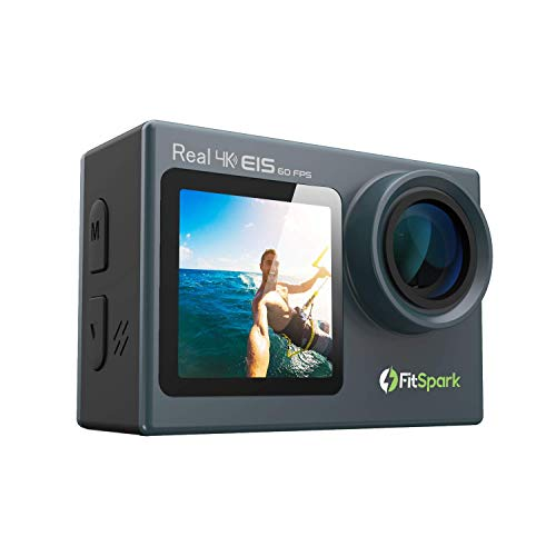 FitSpark Eagle iMAX Dual Screen Real 4K WiFi Action Camera with Touch | Ultra HD 170° Wide-Angle Len
