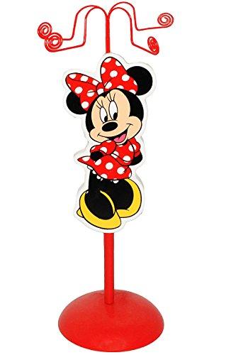 alles-meine.de GmbH Schmuckbaum aus Holz - für Ketten + Armbänder -  Disney Minnie Mouse  - zum Hinstellen - Tischausteller - Deko für Kinder + Erwachsene - Kinderzimmer - Kind..