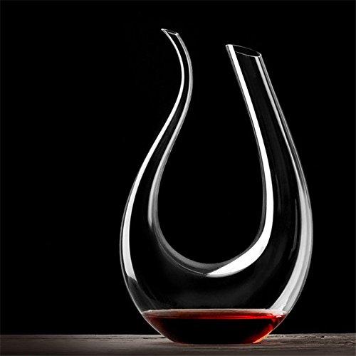 1500ML U-vormige decanter, rode wijn cognac champagne kristal glas decanter, elegante en chique, unieke stijl, geschikt voor uw wijnkast.