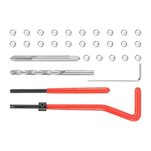 ZXX Kits de reparación de roscas, M5 x 0,8 mm Herramientas Interior para reparación de roscas (30 Piezas) 🔥