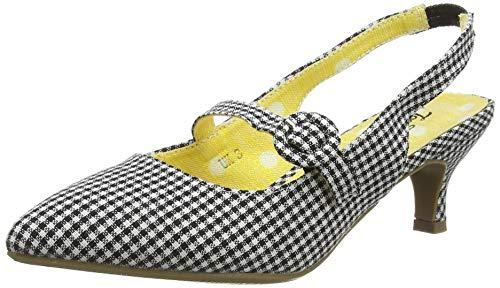 Joe Browns Damen Speak Easy Strappy Shoes Mary Jane Schuh, Schwarz-Weiss, 36 EU