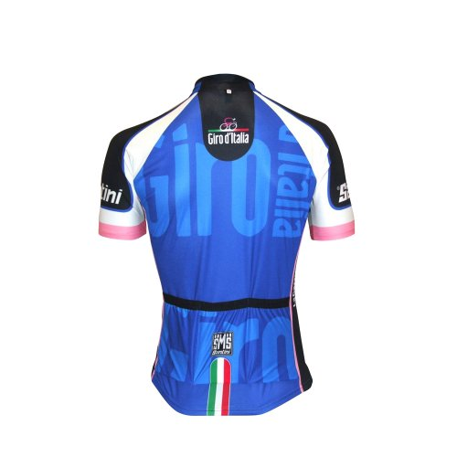 Santini - Maillot de Ciclismo para Hombre (Manga Corta, con Cremallera, diseño...