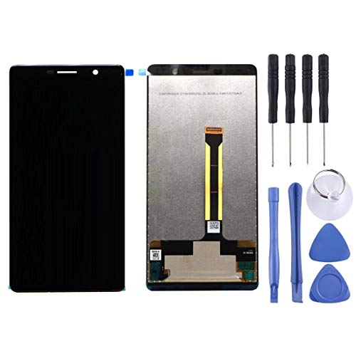 N/B WWTTE Pantalla LCD Y Digitalizador Asamblea Completa For Nokia 7 Plus / E9 Plus (Negro) -K (Color : Black)