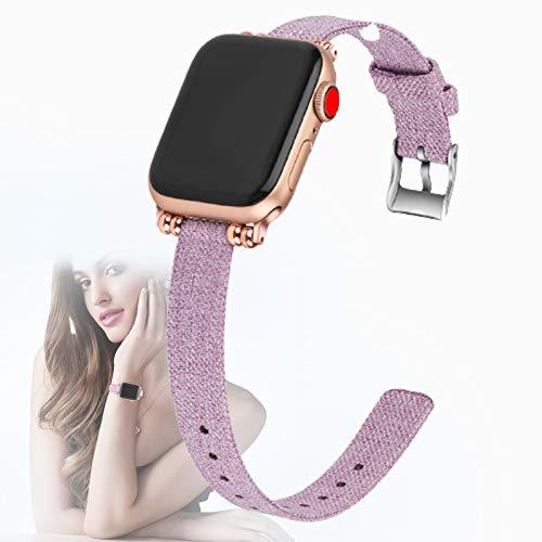 Compatible con Apple Watch Strap 40mm 38mm, Nylon Sports Loop Reemplazo de Correa de Pulsera con Hebilla de Acero Inoxidable para iWatch/Apple Watch SE/Series 6 5 4 3 2 1,L,38mm/40mm