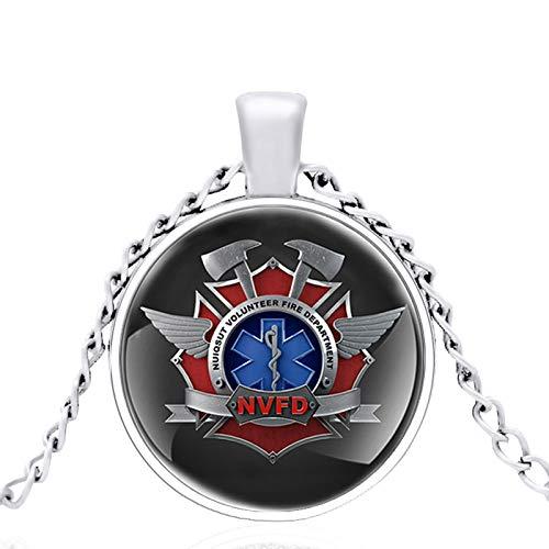 Tutela De Fuego Técnicos Médicos De Emergencia Cúpula De Vidrio Collar Clásico De Metal Retro Hombres Y Mujeres Joyas Cadena De Regalo Longitud 80 Cm