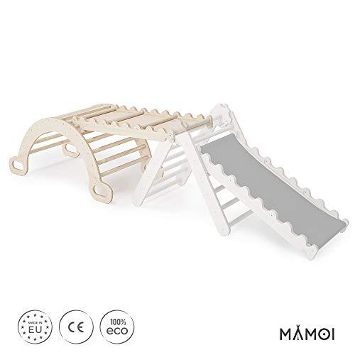 MAMOI Triangle Gym Dreieck mit Rutsche Kletter Wippe Holz Natürliche Materialien - 6