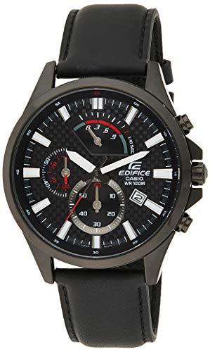 Casio Efv-530bl-1avudf Reloj Analógico para Hombre Colección Edifice Caja De Acero Inoxidable Esfera Color Negro