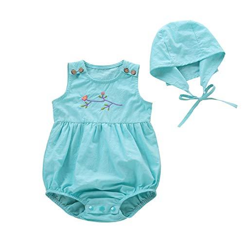YAAY Baby-Strampler mit Blumenmuster, bestickt, für Neugeborene, Jungen, Mädchen,...
