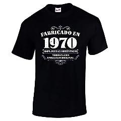 Camiseta de Hombre para Regalo de 50 cumpleaños Manufactured 1970