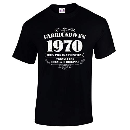 Bang Tidy Clothing Camiseta de Hombre para Regalo de 50 cumpleaños Manufactured 1970