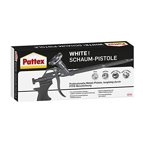 Pattex White Schaum-Pistole, Kartuschenpistole für Pistolenschaum und -reiniger, Bauschaumpistole für exaktes Dosieren, Schaumpistole mit PTFE-Beschichtung, schwarz