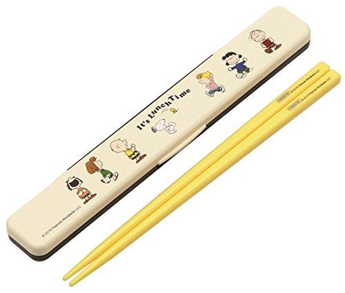 『スケーター 箸 箸箱 セット 18cm スヌーピー ランチタイム 日本製 ABC3』の1枚目の画像