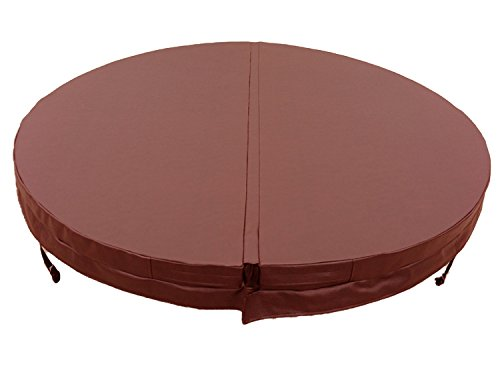 Happy Hot Tubs Deluxe Hot Tub Covers with Heat Lock - In Stock Next Day Delivery - Top Quality & Durable (2000mm x 2000mm Brown (150mm Radius))