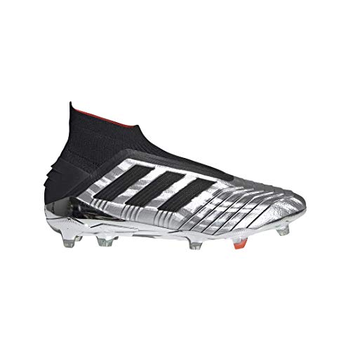 adidas Men's Predator 19+ FG Soccer Cleats (9.5M, Silver/Black)