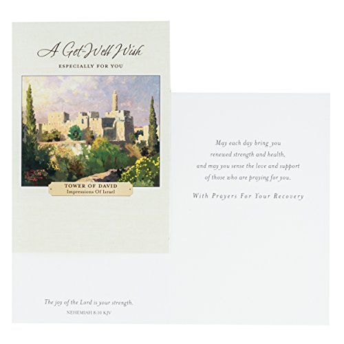 DaySpring Thomas Kinkade - Get Well - Inspirational Boxed Cards - God's Strength - 74869,Multi Color Photo #3