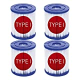 LIULAN Cartucho de filtro tipo I para Bestway 58093, para accesorios de limpieza de piscina hinchable, sustituye cartuchos de filtro para Bestway 300/330 Gal/h (4)