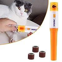 ネイルトリマーミルは、電気バリカン猫の爪はさみ犬のための専門の犬をクロージャ,オレンジ,M