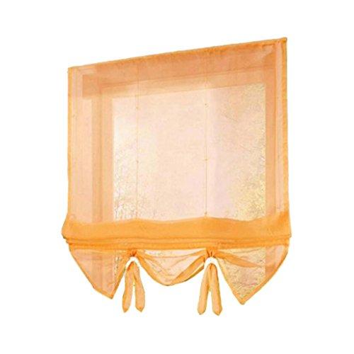 Baoblaze Tendine Classiche e Drappeggi per Finestre Tenda Romana in Poliestere Attrezzo da Balcone Cucina - Arancione 140x155cm