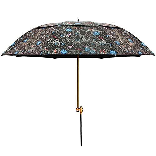 YRRA Sonnenschirm-Angel-Regenschirm rotierender Regenschirm-Pole wasserdicht und auslaufsicher 0 Lichtübertragungslicht und tragbar (ohne Sockel)