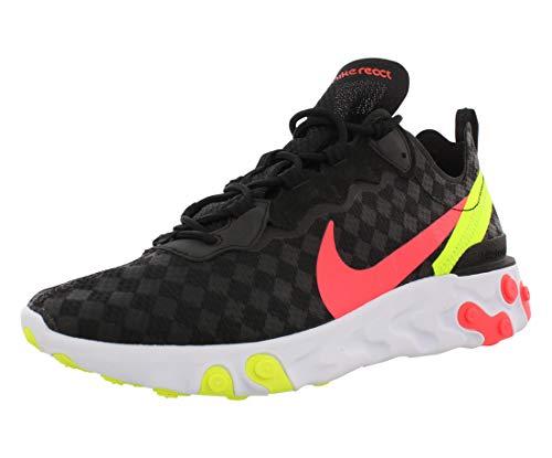 Nike React Element 55 Hombre Running Trainers CJ0782 Sneakers Zapatos (UK 6 US 6.5 EU 39, Black Flash Crimson 001)