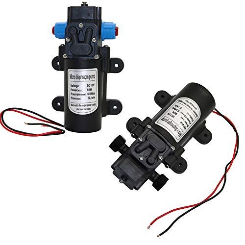 DC 12 V 60 W Micro membraan waterpomp tuin irrigatie hoge druk 18 mm 1/2