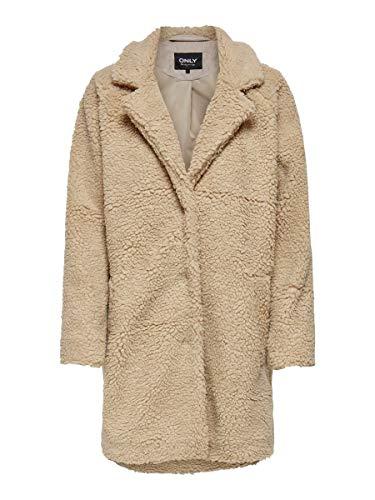 ONLY Damen Onlaurelia Sherpa Coat Otw Mantel, Cuban Sand, S EU