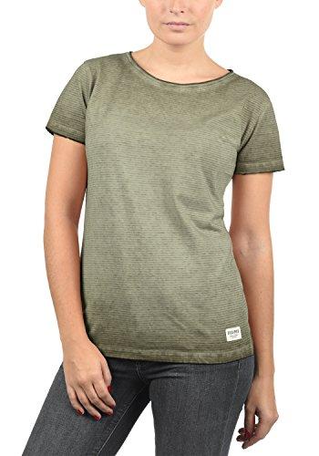 DESIRES Karin Damen T-Shirt Kurzarm Shirt Mit Rundhalsausschnitt Aus 100% Baumwolle, Größe:XS, Farbe:Wine Red (0985)