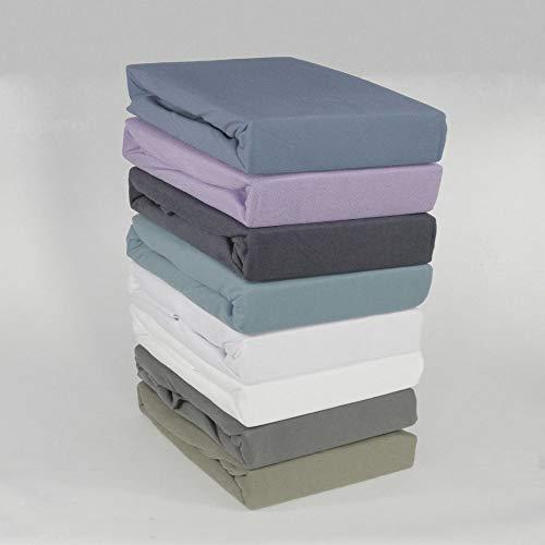 BFW Microfaser Kuschel Fleece Spannbettlaken Spannbetttuch Bettlaken Laken 140-150 x 200, Farbe:ANTHRAZIT
