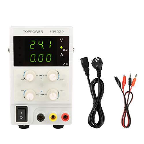 0-30V 0-5A 110/220V STP3005D Fuente de Alimentación Regulable Profesional DC de Corriente Variable Digital Ajustable(EU plug 220V)