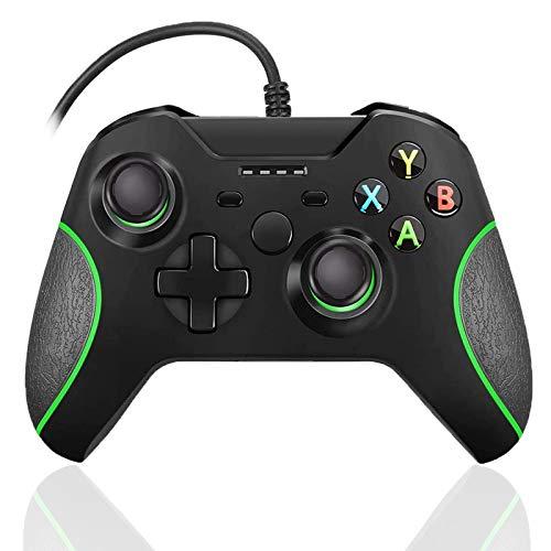 Controlador con cable para Xbox One, con cable Xbox One Game Controller USB Gamepad para Xbox One PC Windows 7/8/10 con 3.5mm auriculares Audio Jack