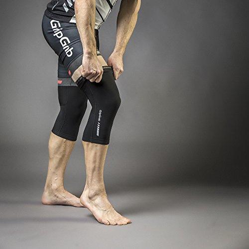 GripGrab Unisex Ganzjahres Radsport Knielinge l Extra rutschfeste und warme Kniewärmer für verbesserten Kälteschutz I Verschiedene Größen, Schwarz, S - 2