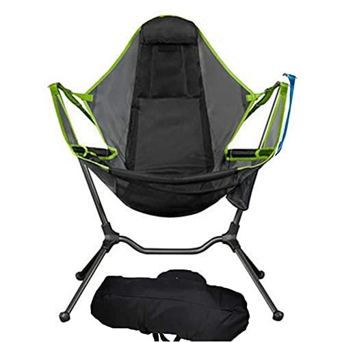 Lubudup Silla plegable de camping, silla portátil de aleación de aluminio, balancín para actividades al aire libre, camping, barbacoa, picnic, playa, senderismo