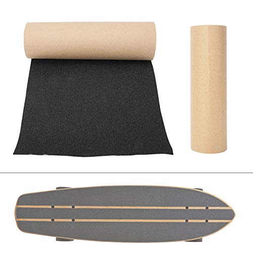 Vbest life Skateboard Grip Tape Sheet, 9,1 Zoll × 32,7 Zoll Anti-Rutsch-Blasenfreies wasserdichtes schwarzes Griptape für Skateboard Longboard-Treppen