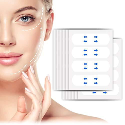Facelifting Aufkleber, Face Lift Sticker, Lift Gesicht Aufkleber, Facelifting Klebeband Unsichtbare Dünne Gesicht Aufklebe Facelifting Klebeband Make-up Facelifting Werkzeuge für Gesicht - 40 stück