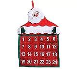 Calendario de adviento para Rellenar y Colgar - Hermoso Calendario de Navidad con números para...