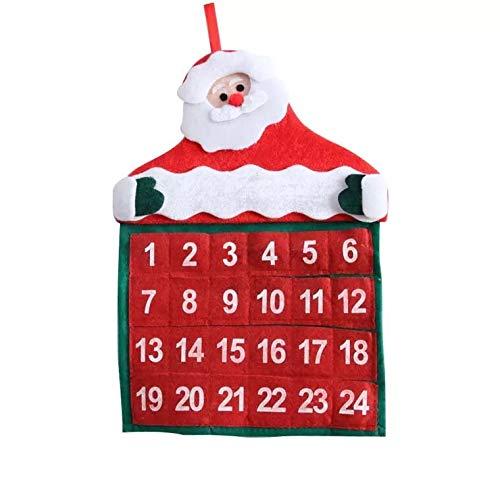 thematys Calendario dell'Avvento per riempire e Appendere - Bellissimo Calendario di Natale Fai-da-Te con Numeri per Uomini, Donne e Bambini
