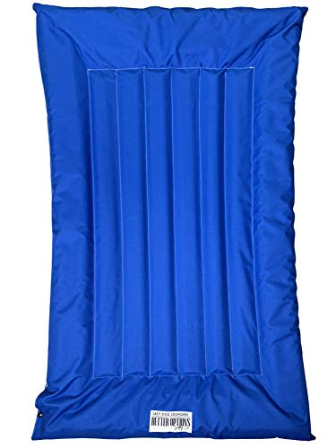 Lazy Dog Loungers Dog Pool Float, Raft for Dogs and Pets - Semi-Submersible to Keep Your Dog Cool - Lake, Pool, River and Boat (Royal Blue - Small)