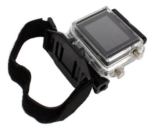 DURAGADGET Sangle/Harnais de Fixation Ajustable pour Casque ventilé pour Garmin VIRB Ultra 30, Lamax X7 Mira & X8 Electra caméras d'action